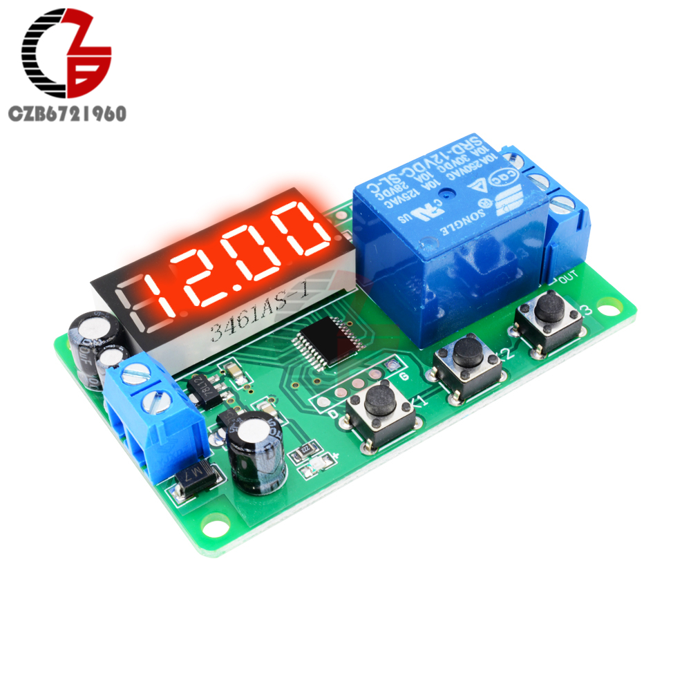 Digital Led Display Time Delay Relay Module Board Dc 12v Control Switch Circuit W Vehicle Electrical Timer Timing Controller