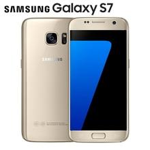 "Débloqué Original Samsung Galaxy S7 LTE Android Mobile téléphone G930V G930F 5.1 ""12MP 4G RAM 32G ROM NFC Smartphone"