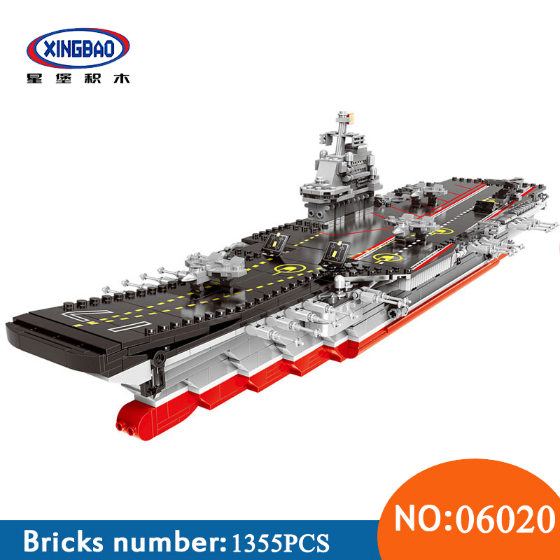 XINGBAO 06020 New 1355PCS Military Series The Aircraft Ship Set Building Blocks Bricks Toys For Children Kids Toys Gifts Models enlighten military series aircraft carrier building blocks set bricks construction toys for children gift 826 juguetes