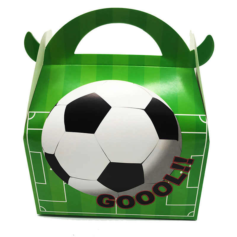 12pcs/pack Football theme candy boxes Football theme gift boxes Soccer theme candy case gift box