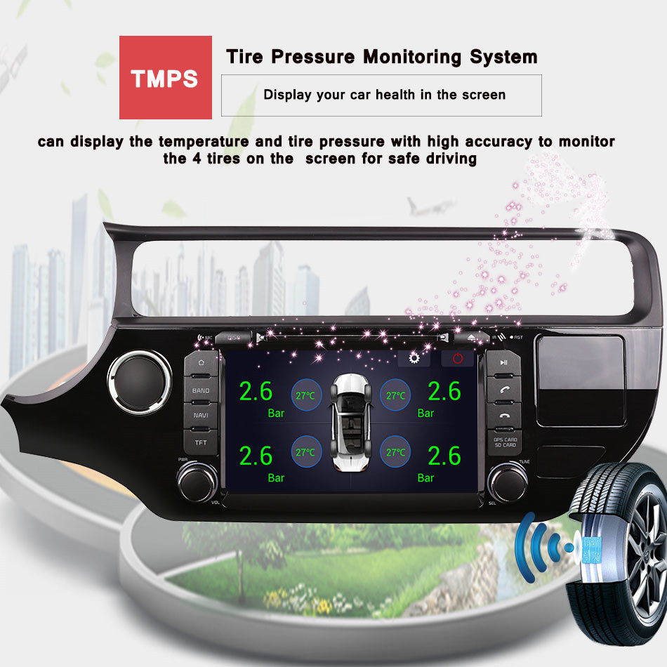 factory sell best 8core android 9.0 px5 rk3188 auto stereo car music video radio fm mp5 media gps monitor hd screen for rio 2015 - 6