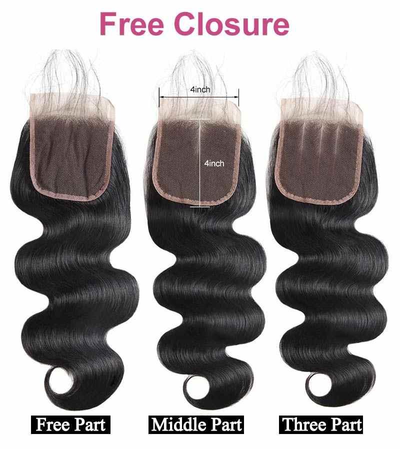 Comprar paquetes de pelo indio crudo enviar cierre gratis pelo virgen sin procesar paquetes de onda del cuerpo Funmi 100% paquetes de cabello humano 8 -28 pulgadas
