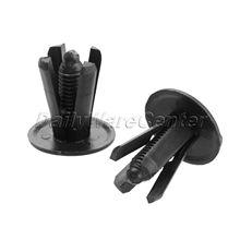 цена на 50Pcs/lot Car Motorcycle Fairing Clips Rivets Fit for 8mm Hole Fastener Panel Black Car Bumper Door Trim Fender Plastic Clips