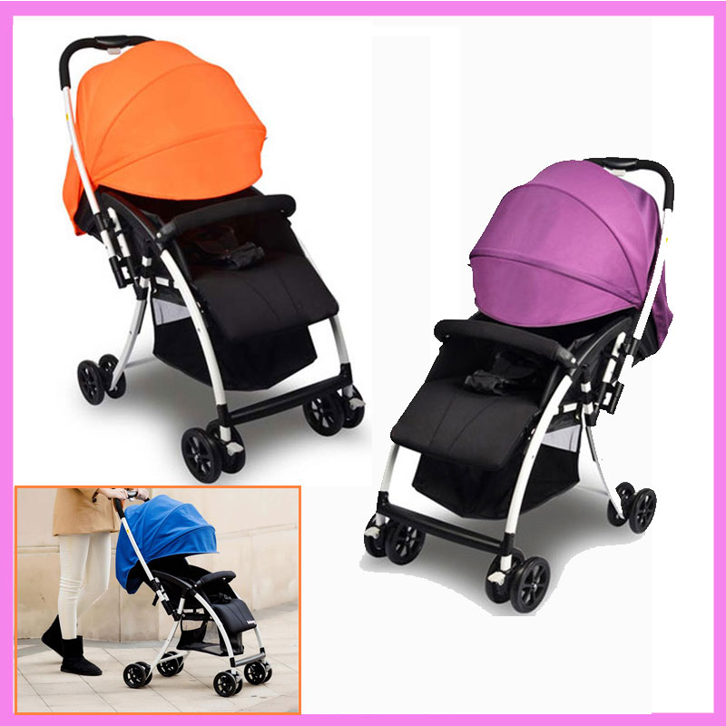 Portable Folding Four Wheels Baby Strollers Travel System Baby Car Seat Pushchair Buggy Pram Bottom Basket Brand Quality 0~36 M sunshade maker tor kid infant baby strollers pram buggy pushchair seats new