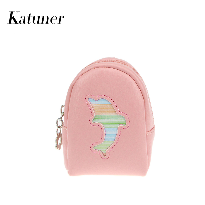 Katuner New Cartoon Coin Purse Keychain Women Mini Wallet Children Kids Pouch Girls Purses Porte Monnaie Kawaii Bag KB022