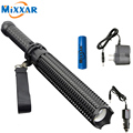 ZK30 Powerful 4500LM Led Flashlights 18650 CREE XM L2 Telescopic baton Self defense Police Patrol LED Rechargeable Torch Lamp