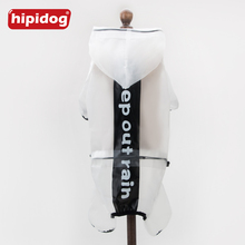Hipidog Pet Translucent Raincoat Dog Clothes Hooded Rain Suit Waterproof Hoodies Jumpsuit For Small Dogs Chihuahua Yorkshire