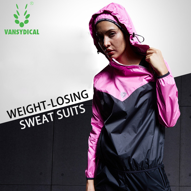 VANSYDICAL 2017 Weight Losing Sports Suit Running Sweat Suits For Men Women Fitness Gym Running Jackets Sportswear Yoga Suits