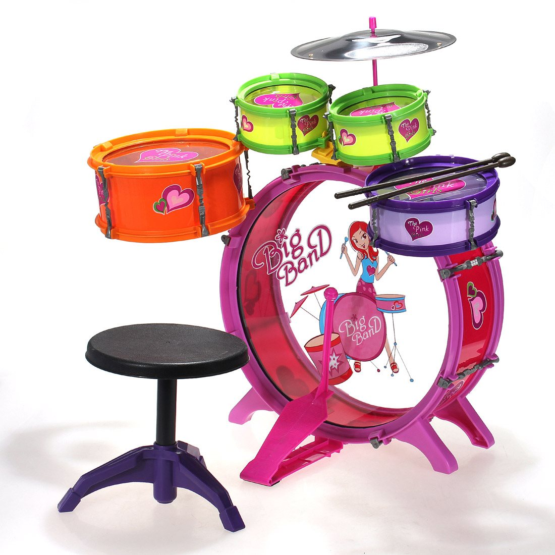 Calmly Brass Drum Drum Drum From Sports Plastic Drum Kit Musical Instruments Toy Plastic Drum Kit Musical Instruments Toy Babies Toddler Drum Set Australia Toy Drum Set baby Toddler Drum Set