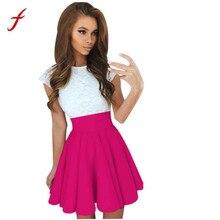 5da8e873735 2018 damas de moda para mujer de fiesta de encaje Mini vestido de verano de  las señoras de manga corta vestidos tienda propietar.