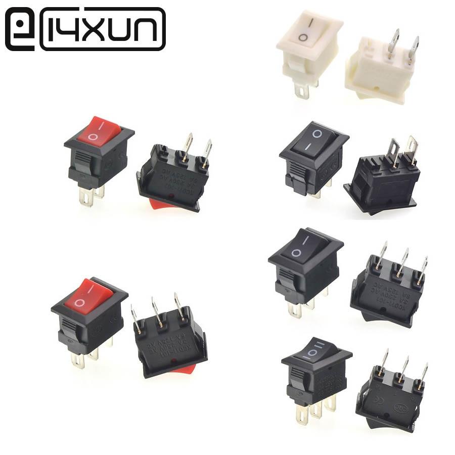 5 Pcs 10*15mm Kleine Rocker Switch On-off-on Zwart Rood Wit Voor Loopbanden Computer Speakers Batterij Auto Speelgoed Ect Seniliteit Uitstellen
