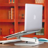 Laptop Stand Riser for MacBook Pro/Air 13 15 Aluminum Foldable Adjustable Laptop Stand for Mac Book/HP/Dell Desk Monitor Stand