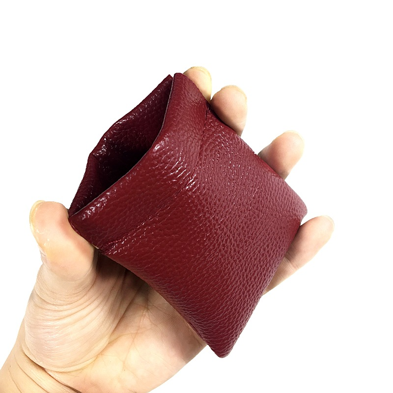 2018 New Fashion Solid Pu Leather Cute Coin Purse Women Men Small Mini Short Wallet Bag Change Key Business Credit Card Holder