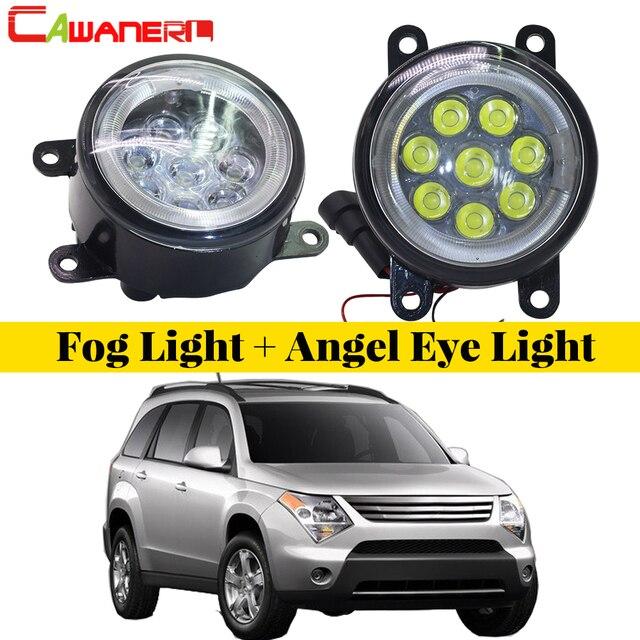 Cawanerl Car Accessories Led Fog Light Angel Eye Daytime Running Lamp Drl 12v 2 Pieces For Suzuki Xl7 Xl 7 2007 2008 2009
