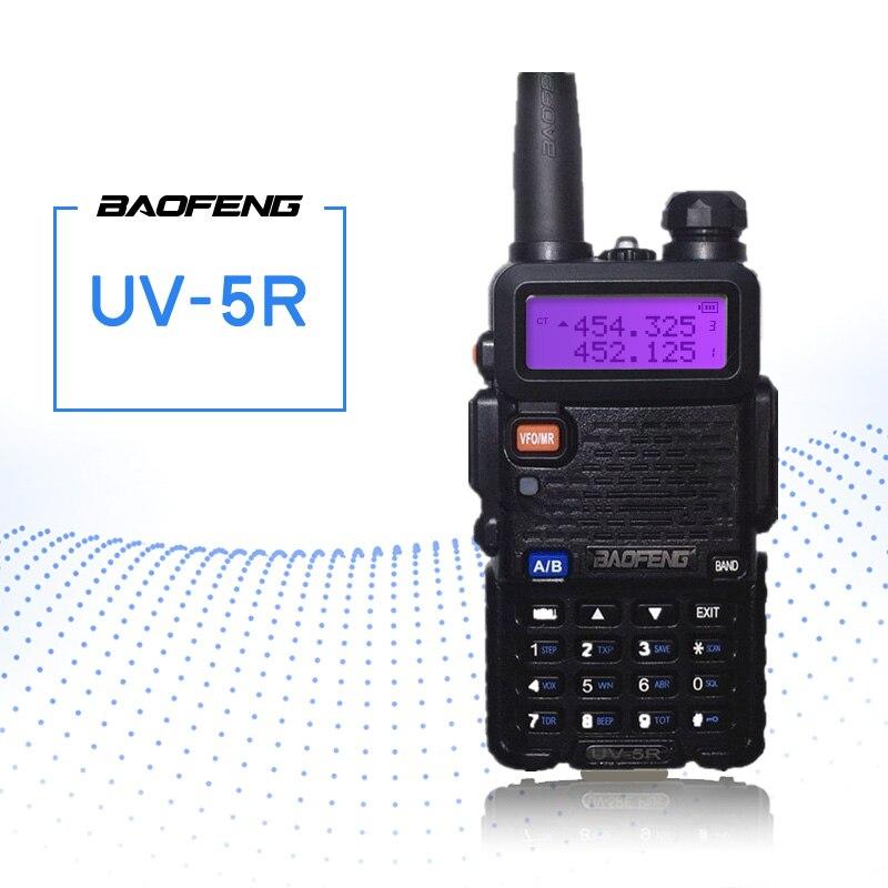 BaoFeng UV-5R Walkie Talkie Tvåvägs Radio FM-sändare Interphone Dual Band DTMF Kodad VOX Alarm LED Lampa Lås Lås