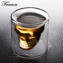 5pcs/lot Gothic Skull Shot Glass Vodka Whiskey Beer Glass Mug Party Bar Drinking Vessel Verre Wine Champagne Cup Halloween Gift