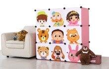 9 doors children bedroom wardrobes clothes cabinets storages