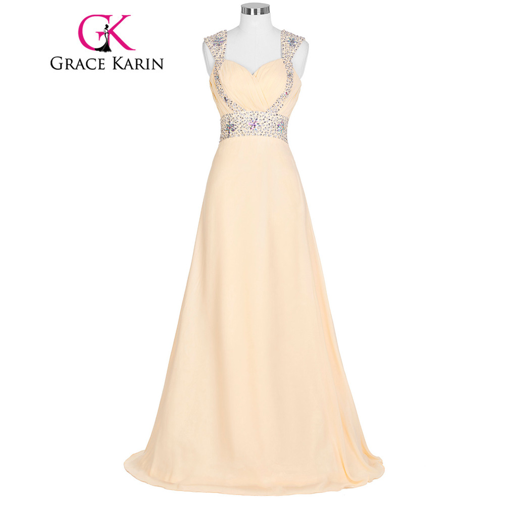 Grace Karin   prom     dresses   2018 spaghetti strap   prom   gown women sleeveless Green Champagne sequin long special occasion   dress   2018
