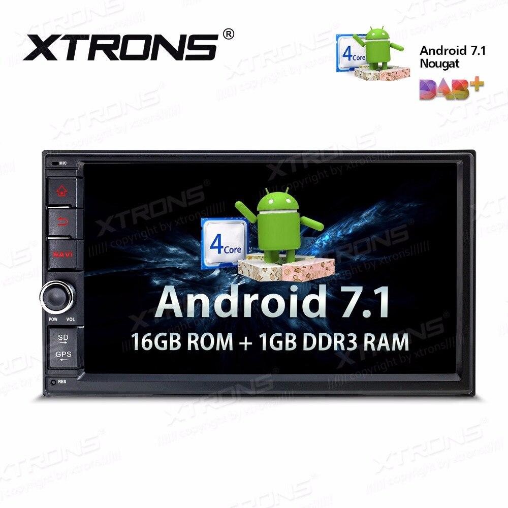 7 дюймов Android 7,1 радио в тире Универсальный стерео Авто плеер OBD DAB + тюнер gps навигации руль нет DVD