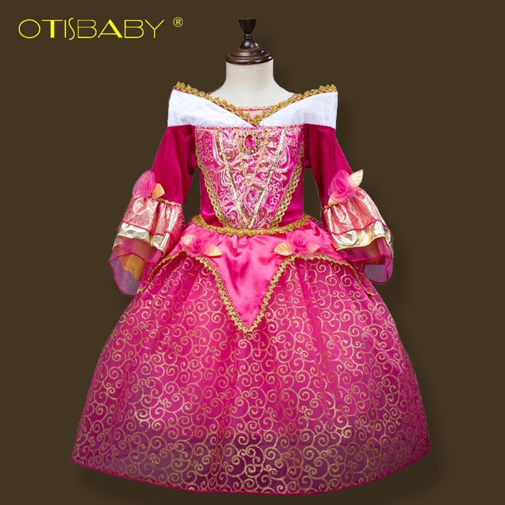 841 33 De Descuentovestidos De Princesa De La Reina De La Nieve Elsa Para Niñas Bella Durmiente Rapunzel Vestido Niños Niñas Cenicienta Sofia