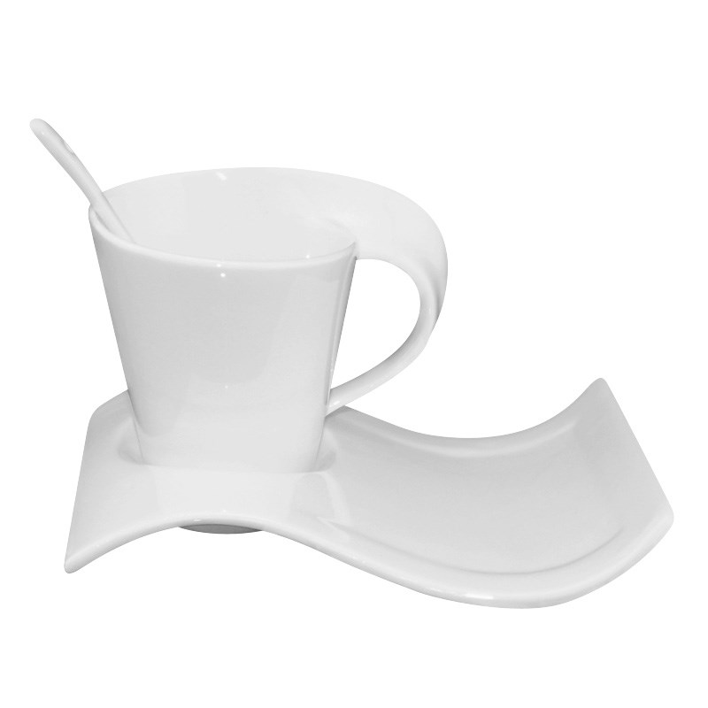 European White Bone China Coffee Ceramic Cup Cappuccino