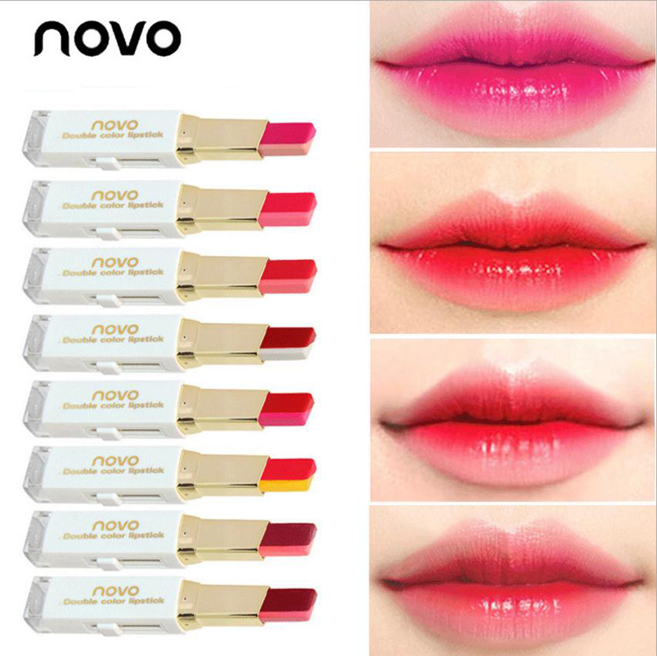 Bar Bite Double Lip Color Lipsticks Korean Tone Two Style Novo