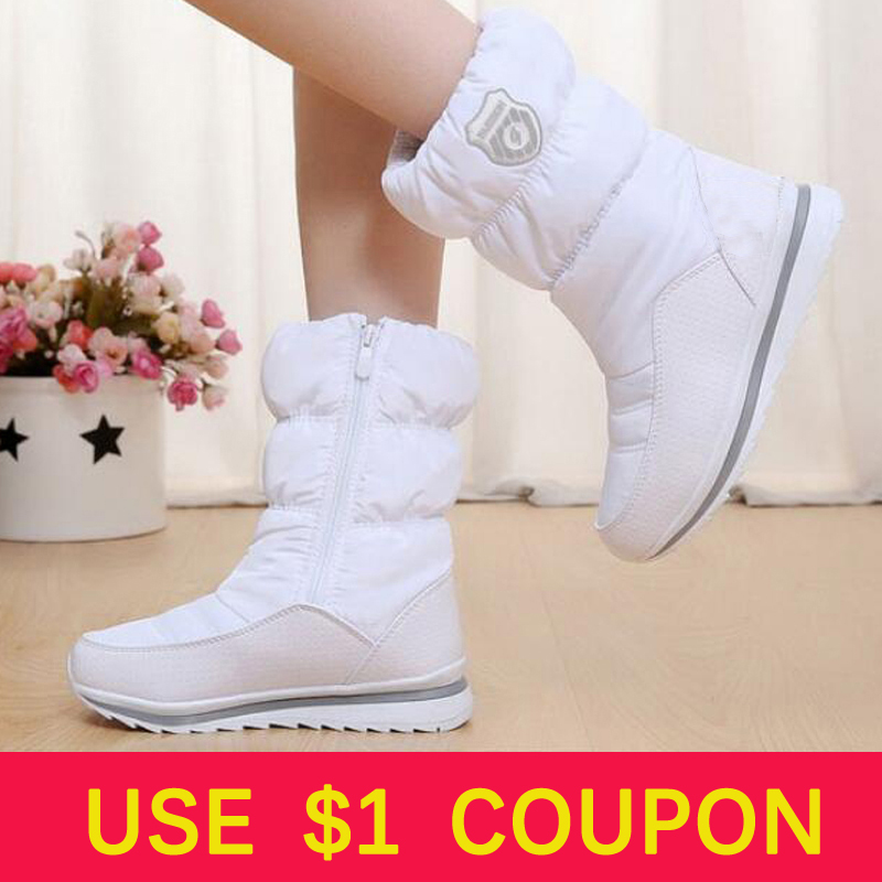 Women boots 2018 winter snow boots women waterproof non-slip thick fur Warm Winter Shoes for -35 degrees
