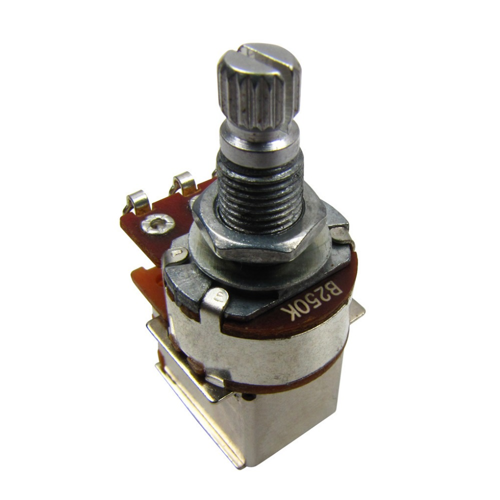 New 10pcs Push Pull Switch Potentiometers Pots B250k Bass Guitar Wiring Tone Volume Control Long Shaft
