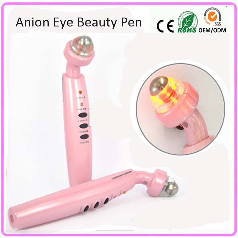 Eye Health Care Electric Vibration Alleviate Fatigue Eye Wrinkle Removal Anion Infrared Heat Photon Therapy Beauty Massager Pen ms w automic electric eye care massager ion in blue eye wrinkle removal stick usb charge vibration beauty pen infrared treatment