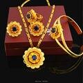 2016 New Ethiopian Women Wedding set Jewelry 24k Gold Plated Pendant/ Necklace/Earrings/Bangle/Ring African Eritrea Jewelry