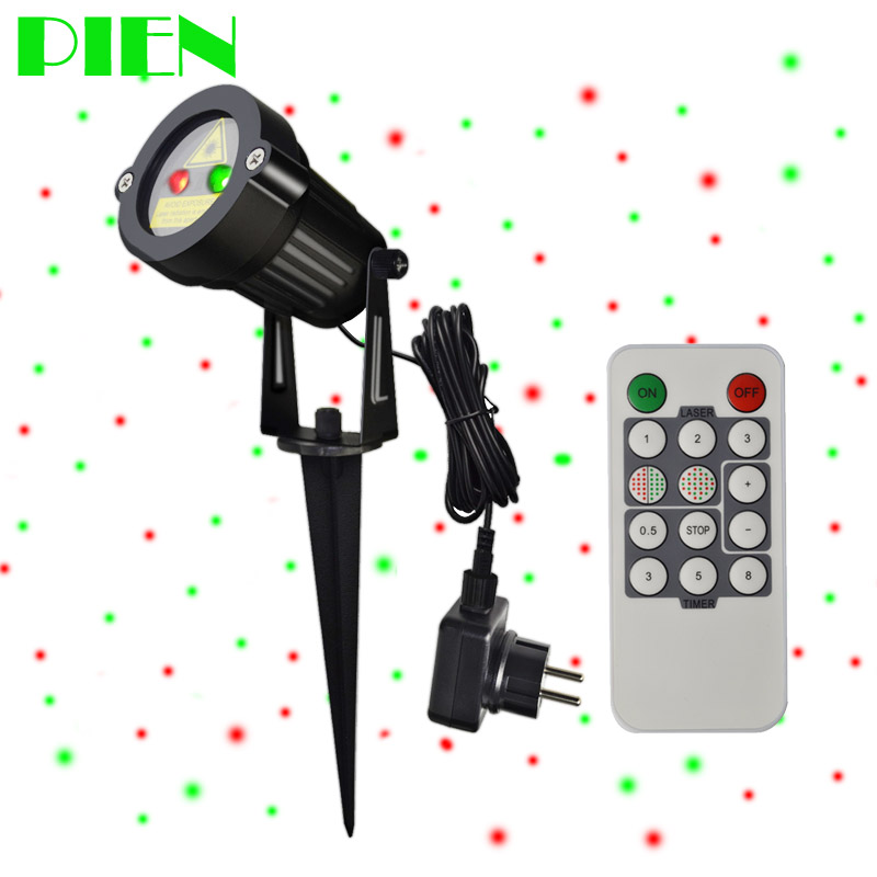 Holiday LightingChristmas Projector Laser Lights Outdoor Waterproof + RF Wireless Remote & Power plug for Xmas garden decor