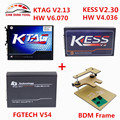 2017 Mejor Precio ECU KTAG Programador HW V2.13 V6.070 + KESS V2 V2.30 + FGTECH V54 FG TECNOLOGÍA Galletto 4 + FRAME BDM Adaptadores Llenos de DHL envío