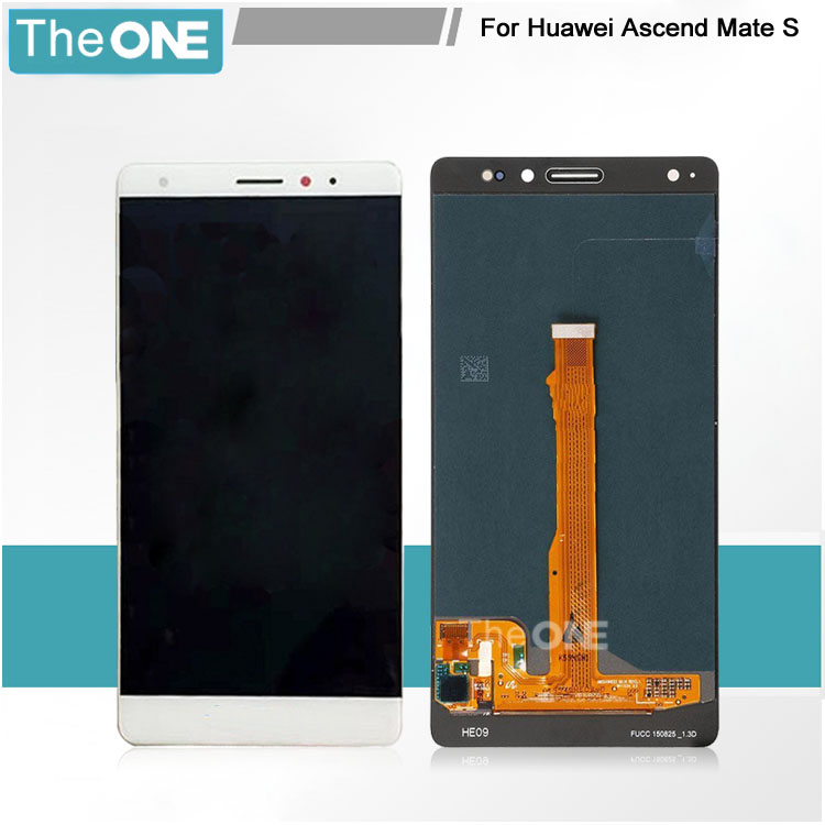 Wholesale Price LCD For Huawei Mate S LCD Screen Digitizer Assembly Replacement Part White/Gold Top Quality Free Shipping black white gold for huawei mate s lcd display touch screen glass panel digitizer assembly tools free shipping