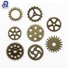 Lucky 8 pcs ผสม Gears Charms Vintage Steampunk Charms Charms ล้อ Antique Bronze อุปกรณ์เสริมสำหรับ(China)
