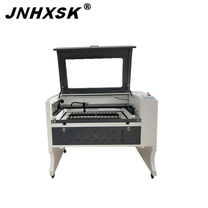 Laser Engraving Machine For Free Shipping Cnc Router Desktop 6090 9060 Double Platform Linear Guide Blade Honeycomb Rubber Glass