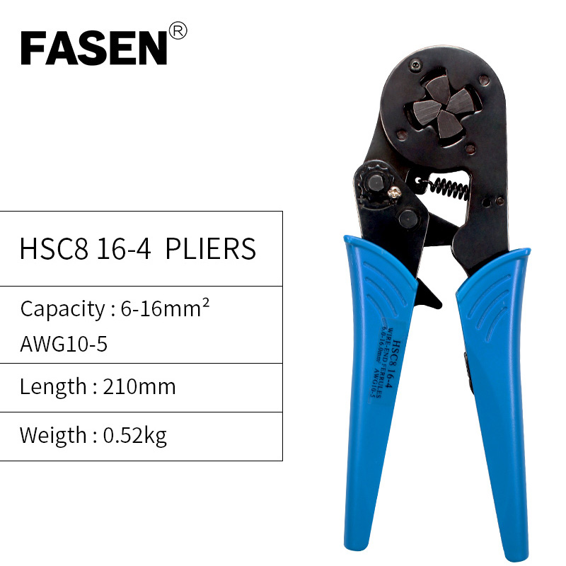 6-16mm 10-5 AWG High Quality Precision Wire Connector Crimp Pliers VE Tube Bootlace Terminal Tool  HSC8 6-4 6-6 16-4