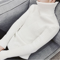 Men Turtleneck Sweater 2017 New Winter Male Vintage Pullover Slim Thermal Sweater Teenage Boy Knitted Tops
