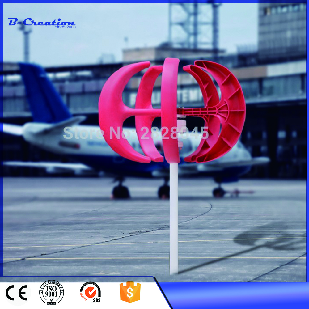 300W vertical wind turbine 12V 24V red white ball type wind generator for land and marine free shipping 600w wind grid tie inverter with lcd data for 12v 24v ac wind turbine 90 260vac no need controller and battery