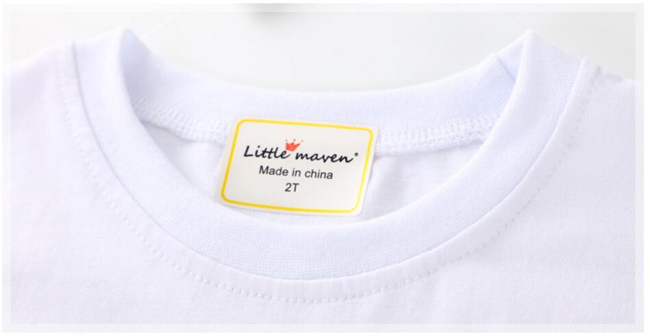 Little maven kinderen 2018 zomer baby meisje kleding korte mouw - Kinderkleding - Foto 3