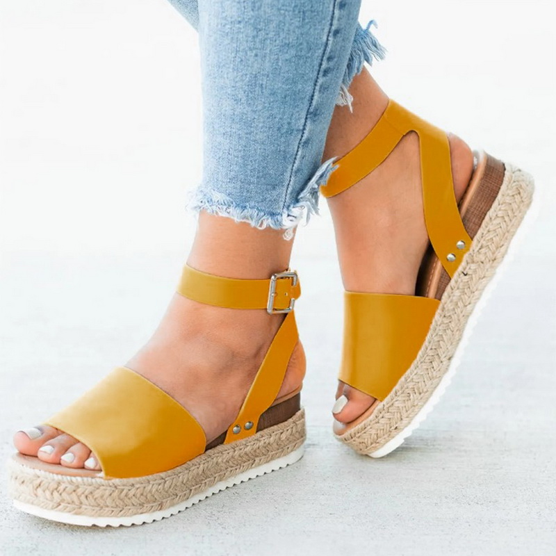 Summer Sandals Shoes Pumps Flop Platform High-Heels Femme Women Feminina Wedges Chaussures