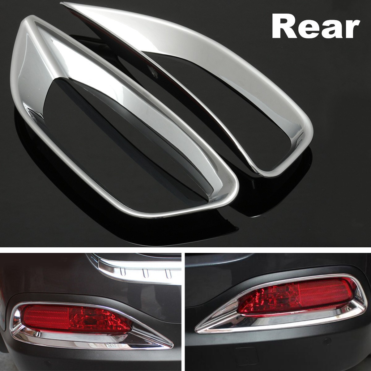 1 Pair Abs Plastic Chrome Tail Rear Fog Light Lamb Trim Decoration Ford Transit Wiring Diagram Honda Accord Accessories Frame Cover For Kia Sorento L 2015 2016 In Lamp Hoods From Automobiles Motorcycles On