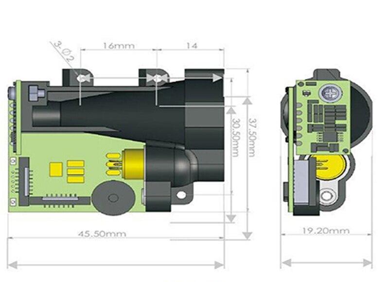 Laser Entfernungsmesser Rs232 : Mt entfernungsmesser laser modul digitale