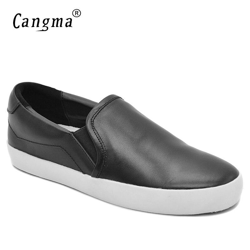 Casual Loafer Auténtico Marca Mujeres Femenina Zapatos Retro Mano Mujer Deslizamiento Cangma Cuero Negro A Sneakers Calzado Hecha noretro Otoño En qOEaEdwSZ