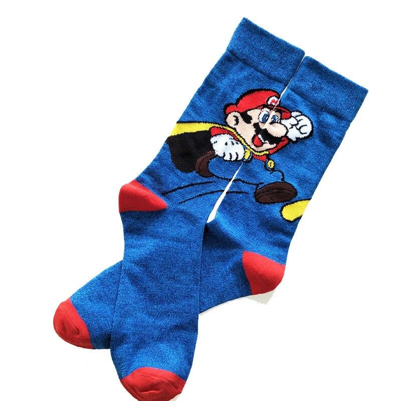 Носки до колен для мужчин и женщин, Хлопковые гольфы для косплея в стиле Super Mario, подарок для взрослых