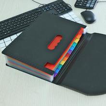 12 карманов расширяющиеся файлы папка аккордеон портативный A4 файл менеджер Бизнес Офис Студенческая пластиковая папка Органайзер многоцветный