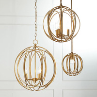 American Style Rural Creative Fashion Golden Iron Chandelier Bedroom Living Dining Hall Art Entrance Chandelier LU628
