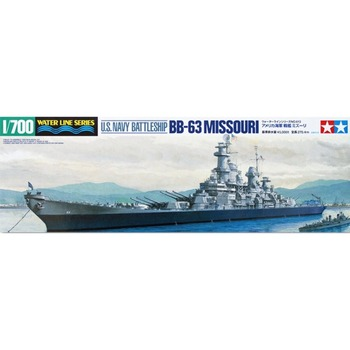 OHS Tamiya 31613 1/700 US Navy Battle Ship BB63 Missouri Assembly Scale Military Ship Model Building Kits image