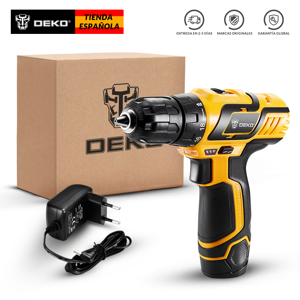 DEKO GCD10.8DU3 10.8V Cordless Drill Electric Screwdriver Lithium-Ion Mini Power Driver Variable Speed LED Standard SetDEKO GCD10.8DU3 10.8V Cordless Drill Electric Screwdriver Lithium-Ion Mini Power Driver Variable Speed LED Standard Set