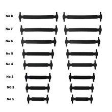 SENTCHARM 10Sets/ Pack Black White Lazy Elastic No Tie Shoelaces Free Tying Silicone Shoelace Easy Shoe Laces