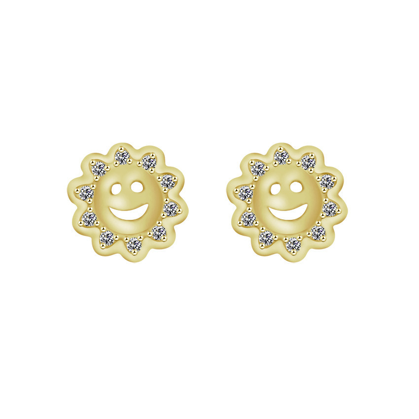 GORGEOUS TALE New Arrives Paved Crystal Earrings Female Sunflowers Jewelry Free ShippingGold Color Cute Design Women Earrigs